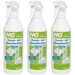 3 x HG Dusch- und Waschbeckenspray 500 ml (2+1 GRATIS!)