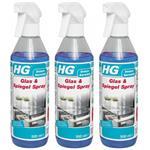 3 x HG Glas- und Spiegelspray 500 ml (2+1 GRATIS)