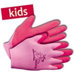 KIXX Kinder-Handschuhe Nylon/Latex Gr. 4 rosa