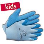 KIXX Kinder-Handschuhe Nylon/Latex Gr. 4 blau