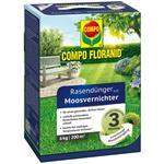 COMPO Floranid Rasendünger mit Moosvernichter 6 kg für 200 qm