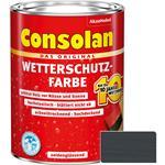 Consolan Wetterschutz-Farbe für Holz, anthrazitgrau 2,5 Liter
