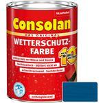 Consolan Wetterschutz-Farbe für Holz, blau 2,5 Liter