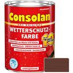 Consolan Wetterschutz-Farbe für Holz, braun 2,5 Liter