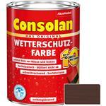 Consolan Wetterschutz-Farbe für Holz, dunkelbraun 2,5 Liter