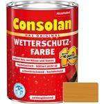 Consolan Wetterschutz-Farbe für Holz, gelb 2,5 Liter