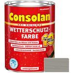 Consolan Wetterschutz-Farbe für Holz, grau 2,5 Liter