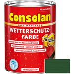 Consolan Wetterschutz-Farbe für Holz, grün 2,5 Liter