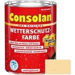 Consolan Wetterschutz-Farbe für Holz, nordisch-gelb 2,5 Liter