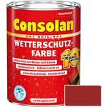 Consolan Wetterschutz-Farbe für Holz, rot 2,5 Liter