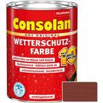 Consolan Wetterschutz-Farbe für Holz, rotbraun 2,5 Liter