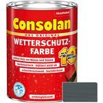 Consolan Wetterschutz-Farbe für Holz, schiefer 2,5 Liter