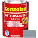 Consolan Wetterschutz-Farbe für Holz, silbergrau 2,5 Liter