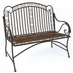 Metall Sitzbank PABLO antik-braun 110x117x50