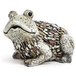 Deko-Gartenfigur Frosch Kieseloptik 19x28x21 cm