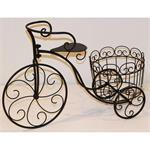 Deko-Fahrrad mit Pflanzkorb 65 x 25 x 43 cm braun/schwarz