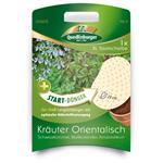 Quedlinburger XL Saatscheibe ø28cm + Start-Dünger, Kräuter Orientalisch