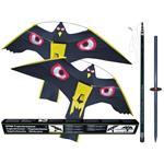 Vogelscheuche Habicht-Drache, 7 m Teleskopstab & 2 Drachen