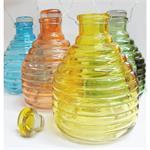 Wespenfalle Glas sortierte Farben 18 x 12 cm