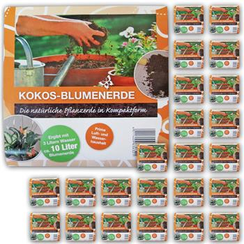 240 liter lucht kokos blumenerde 24x700g 100 natur torffrei for Pflanzenerde fliegen
