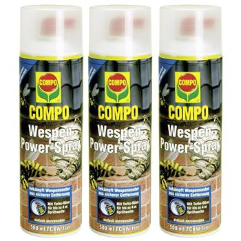 3 x 500 ml compo wespen power spray wespengift 4 meter. Black Bedroom Furniture Sets. Home Design Ideas