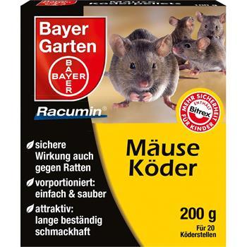 bayer racumin ratten und maeuse koederpellets 200 g. Black Bedroom Furniture Sets. Home Design Ideas