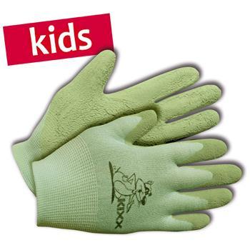 KIXX Kinder-Handschuhe Nylon/Latex Gr. 4 grün