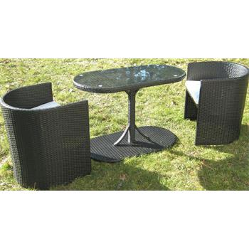 balkonset carmen gartenm belgruppe 3teilig schwarz balkon m bel ebay. Black Bedroom Furniture Sets. Home Design Ideas