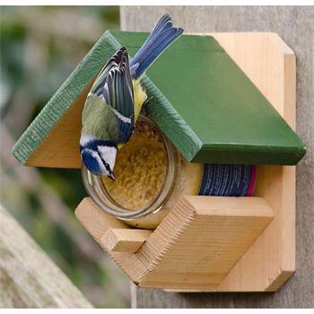 CJ Wildlife Gartenvögel-Erdnussbutterhaus aus FSC-Holz