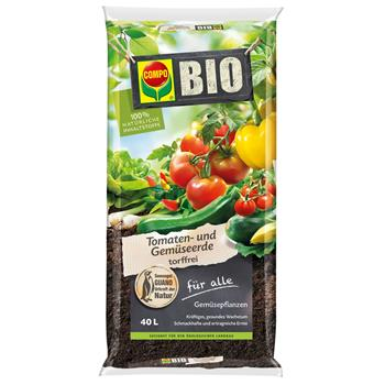 COMPO Bio Tomaten- und Gemüseerde torffrei 40 Liter