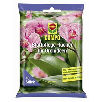 COMPO Blattpflege-Tücher für Orchideen 10 Stück
