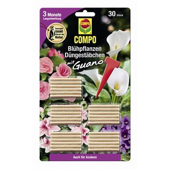 COMPO Blühpflanzen Düngestäbchen mit Guano 30 Stück
