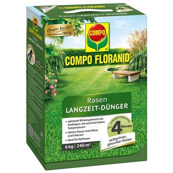 COMPO Floranid Rasen-Langzeitdünger 6 kg für 200 qm