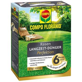 COMPO Floranid Perfektion Rasendünger 5kg für 110m²