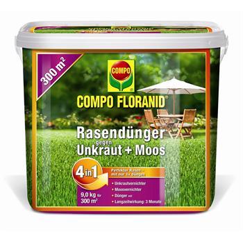compo floranid rasend nger gegen unkraut moos 4in1 9 kg. Black Bedroom Furniture Sets. Home Design Ideas