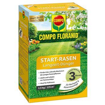 COMPO Floranid Start Rasen-Dünger 2,5 kg für 100 qm