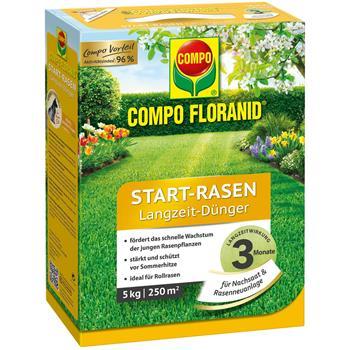 COMPO Floranid Start Rasen-Dünger 5 kg für 200 qm