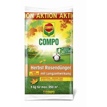 COMPO Herbst Rasen-Langzeitdünger 5 kg für 250 m²