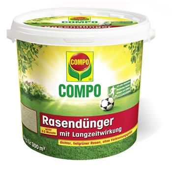 COMPO Rasendünger mit Langzeitwirkung 8 kg für 300 m²