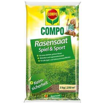 COMPO Rasensamen Spiel & Sport 5 kg für 250 m²
