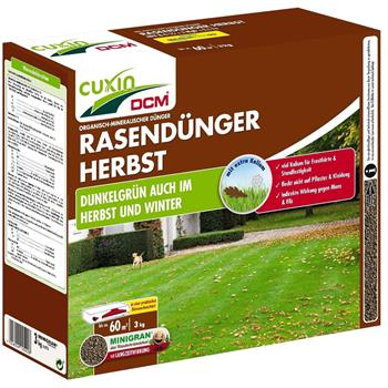 Cuxin Rasendünger Herbst NPK-Dünger, 3 kg für ca. 60 m²