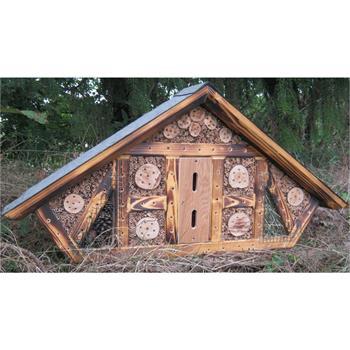 gh jumbo insektenhotel 104x50x15cm handarbeit geflammtes holz ebay. Black Bedroom Furniture Sets. Home Design Ideas