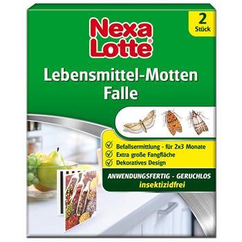 Nexa Lotte Pheromonfalle für Nahrungsmittelmotten 2 Stück