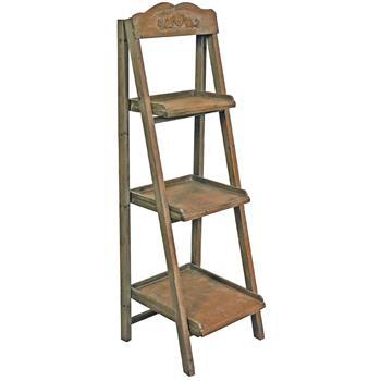 Pflanzen-Stufengestell Holz braun 148x47,5 Antik