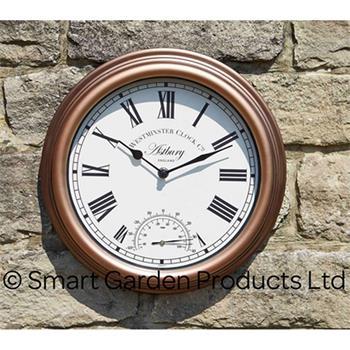 """Smart Garden Wanduhr mit Thermometer """"Astbury"""", 30cm"""