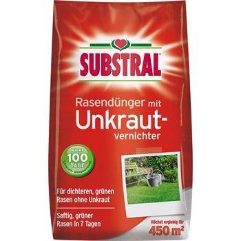 Substral Rasen-Dünger mit Unkrautvernichter 9 kg für 450 qm