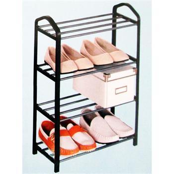 schuhregal mit 4 b den schwarz 42 x 20 x 62 cm. Black Bedroom Furniture Sets. Home Design Ideas