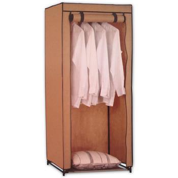 Textil-Kleiderschrank Faltkleiderschrank beige, B70 x T46 x H148 cm