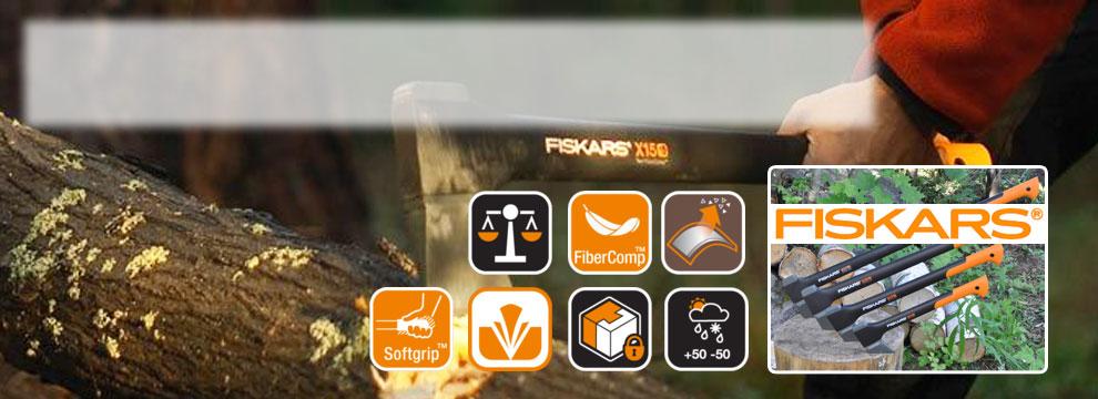 Fiskars-Axtsortiment